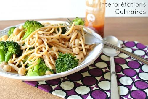 spaghetti brocoli