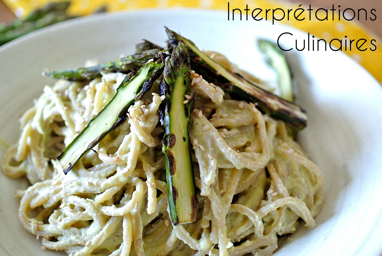 Interpr tations culinaires spaghetti la cr me d asperges - Asperge a la poele ...